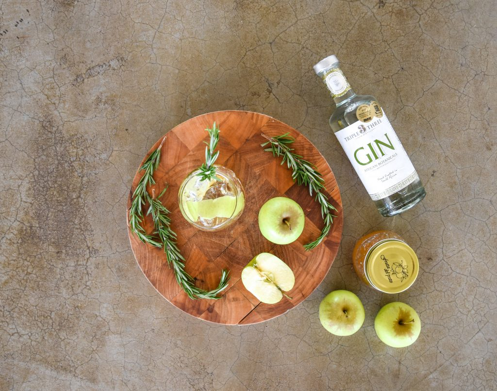 African Botanicals Apple Gin Cocktail