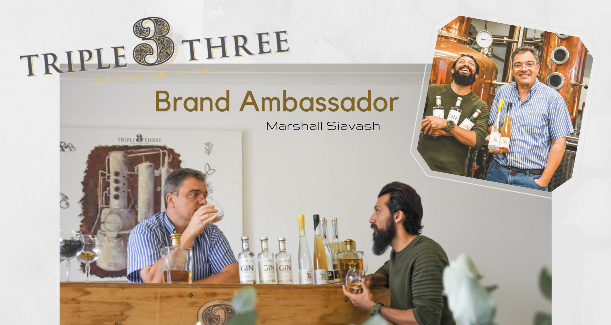 Triple Three Gin Brand Ambassador